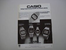 advertising Pubblicità 1979 OROLOGIO CASIO CHRONOGRAPH/SLIM/LADY/CALENDAR ALARM