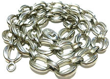 X-LARGE HEAVY BAYANIHAN STERLING SILVER MODERN CABLE CHAIN NECKLACE 25""