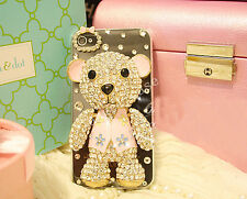 Girl's Handmade Luxury Bling Diamond Rhinestones Crystal Clear Phone Case Cover
