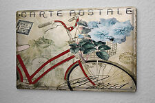 Tin Sign Retro old bicycle antique