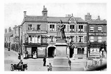 pt7400 - Wakefield , Bull Ring & Victoria Monument  , Yorkshire - photograph 6x4