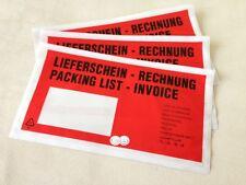 1000 Lieferscheintaschen rot DIN lang Dokumententaschen Begleitpapiertaschen TOP