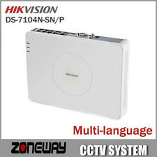 Hikvision NVR DS-7104N-SN/P for POE IP Camera with 4 Ethernet Ports Support POE