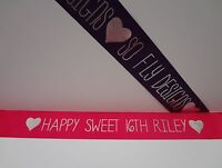 LUXURY PERSONALISED BIRTHDAY SASH 16th-SWEET SIXTEEN-CELEBRATION BIRTHDAY GIFT