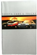 1984 TOYOTA CARS AND TRUCK DEALER CATALOG ALL MODELS