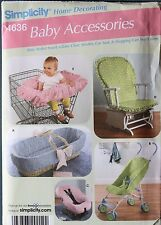 BABY ACCESSORY Shopping Cart COVER Simplicity Pattern 4636 NEW Stroller Carseat