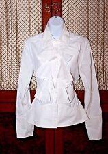 GUCCI Women's 100% Cotton White Blouse Size 40 EUR