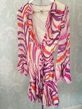 Unique Diane Von Furstenberg Silk Wrap Dress Size 6