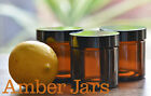 9 x 60ml Amber Glass Jars black Wadded Lid - FREE POST creams, candles, spices