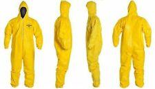 Dupont Tychem Tyvek QC QC127S Chemical Hazmat Suit Hood YELLOW Coveralls X Large