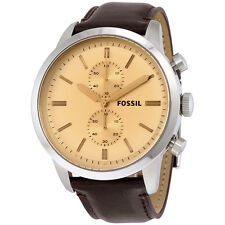 Fossil Townsman Chronograph Dial Brown Leather Mens Watch FS5156