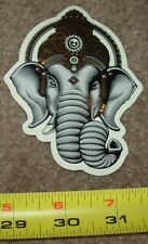 "CRYPTIK Gold Foil Sticker 4"" GANESH poster print like shepard fairey obey"