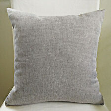 45cm x 45cm Home Decorative Grey Linen Look Cushion Cover