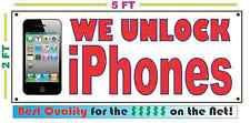 WE UNLOCK iPHONES Banner Sign LARGER SIZE Best Quality for the $$$ Full Color