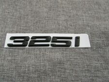 Black Matt 325i Number Trunk Letters Emblem Badge Sticker For BMW 3 Series 325i