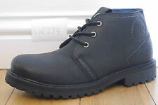NEW Mens UK 8 EU 42 Wrangler W234 Lace up Black Leather chukka Ankle Boots