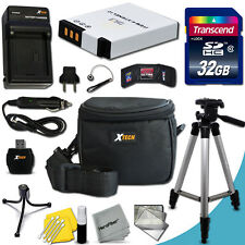 Xtech Kit for Nikon Coolpix S9300 w/ 32GB Memory + BT/CH +Tripod + Case + M