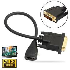 DVI-D Male 24+1 pin to HDMI Female 19-pin HD HDTV Monitor Display Adapter Cable