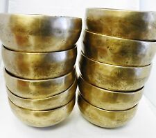 "E744 Wholesale Lot of 10 pcs Throat G Chakra Tibetan Singing Bowl 5"" MI Nepal"