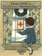 ADVERT CHRISTMAS WILLCOX SMITH RED CROSS SERVICE FLAG ART POSTER PRINT LV082