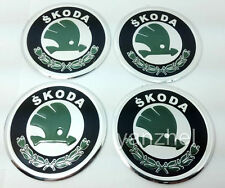 SKODA Wheel Center Caps Stickers Alu Decal Logo Emblem 60mm Set of 4pcs