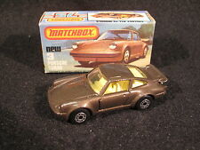 Vintage Superfast Matchbox #3 Porsche Turbo NMIB