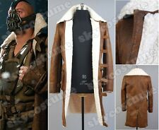 Batman-TDKR:Bane Dorrance Leather Trench Coat Cosplay Costume Jacket Outfit Suit