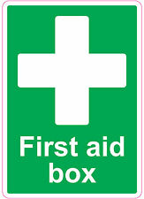 [ 205x290mm ] FIRST AID BOX | health and safety | signs/stickers | Medical