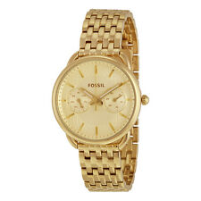 Fossil Tailor Multifunction Gold Dial Gold-tone Steel Ladies Watch ES3714