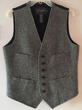 Ralph Lauren Rugby Gray Herringbone Wool Tweed 6 Button Vest Men's Medium