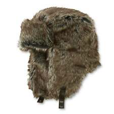 Dockers Trapper Winter Ear Flaps Hat Faux Fur Brown Aviator Bomber L/XL NEW