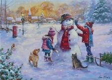 Let it snow - Schneemann - Weihnacht Puzzle