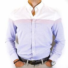 NWT Tommy Hilfiger Men's Striped White Blue and Red Button Down Shirt Size M