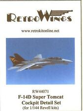 RetroKits Models 1/144 GRUMMAN F-14D SUPER TOMCAT COCKPIT DETAIL SET Resin Kit