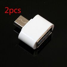 2x Micro USB OTG to USB 2.0 Host Adapter für Android Samsung Galaxy Tablet Weiß