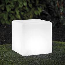 LED Solar Cube 30x30x30cm Würfel Gartenlampe Leucht mit Farbwechsel RGB LK04