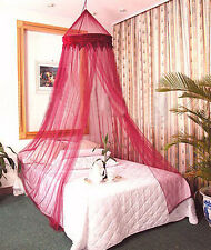 DREAMMA Burgandy Bed Canopy Bug Net Insect Fly Netting Mesh Bee