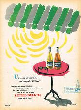 PUBLICITE ADVERTISING 124  1959   VITTEL- DELICES  soda