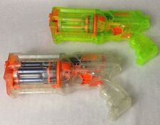 LOT of (2) Nerf Guns N-Strike Maverick Rev-6 Clear and Sonic Green w/ Darts