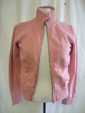 Ladies Sweat Top - FCUK Jeans, size S, peach, cotton, zip up, funnel, used 1327