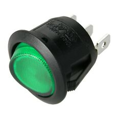 _ Wippschalter rund - Grün beleuchtet - EIN/AUS schaltend / mini Schalter