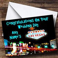 Las Vegas Personalised Wedding Day Greetings Card