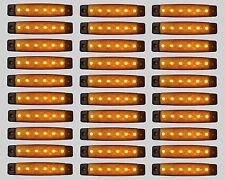 30 X SEGNALATORE LUCE INGOMBRO 6 LED SMD 24V 24VOLT ARANCIO CAMION RIMORCHI