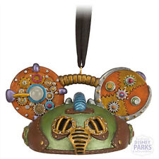 Disney Parks Mickey Mouse Steampunk Green Ear Hat Ornament Limited Edition