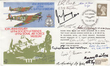 41st Anniv Battle of Britain Signed 12 Battle of Britain Pilots Crew  . 12th Sep