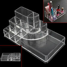 Acrylic Transparent Makeup Box Organiser Cosmetic Display Storage Case 8 Tips