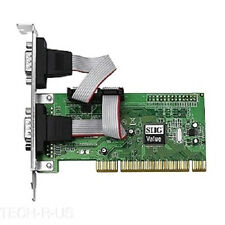SIIG JJ-P20511-S3 2-port PCI Serial Adapter - 2 x 9-pin DB-9 RS-232 Serial PCI