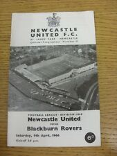 09/04/1966 Newcastle United v Blackburn Rovers  (Light Crease, One Possible Auto