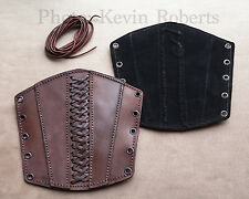 Palnatoke Rugged Lined Brown Leather Bracers (Pair) Armor MEDIUM Archery Armor
