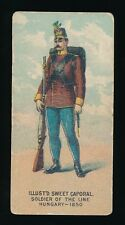 1890 N224 Kinney Bros. MILITARY SERIES -Ser L -Soldier of Line (Hungary 1850)